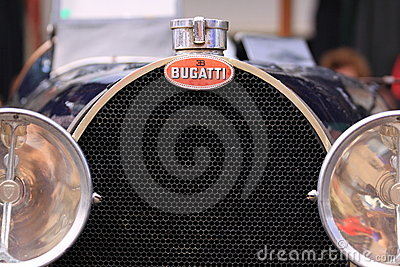 Bugatti old timer car grill Editorial Image