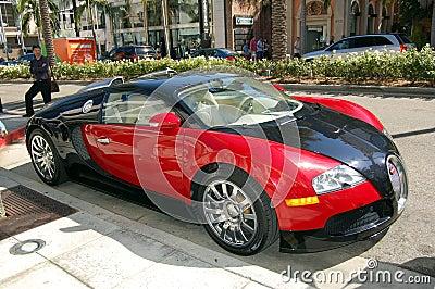 Bugatti on Rodeo Drive Editorial Stock Photo