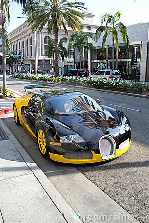 Bugatti on Rodeo Drive Editorial Image