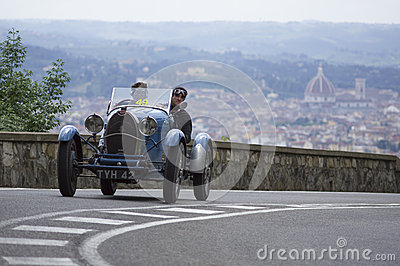 Bugatti T 40 driven by Tonconogy Juan Editorial Photo