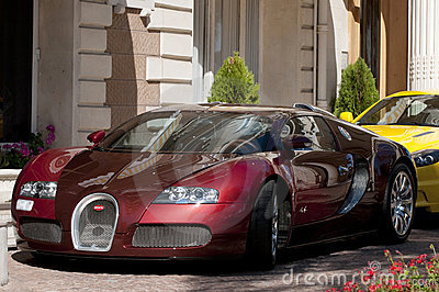 Bugatti Veyron 16.4 at Cannes, French Riviera. Editorial Photography