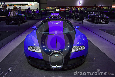 bugatti veyron front view editorial stock photo image. Black Bedroom Furniture Sets. Home Design Ideas