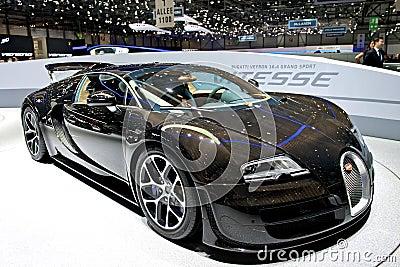 Bugatti Veyron Grand Sport Vitesse 2014 Editorial Stock Image