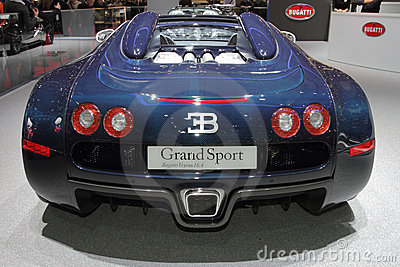 Bugatti Veyron GrandSport- 2010 Geneva Motor Show Editorial Stock Photo