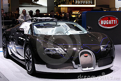 Bugatti Veyron at the Motor Show 2010, Geneva Editorial Photography