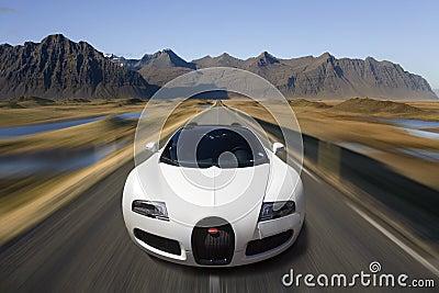 Bugatti Veyron Supercar - Automotive Technology Editorial Image
