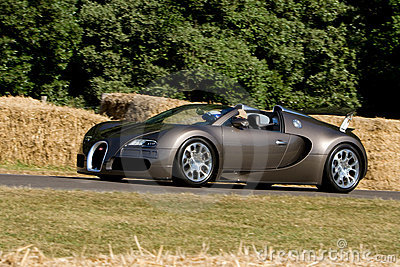 Bugatti veyron on track at Goodwood Festiva Editorial Stock Photo