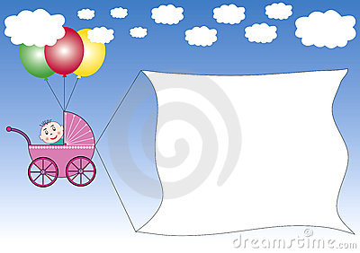 Buggy Dragging A Banner Royalty Free Stock Photos - Image: 3040248