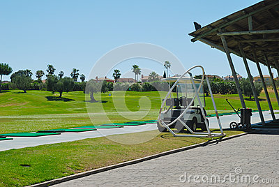 Buggy at driving range
