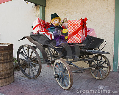 Buggy with Presents and Elf
