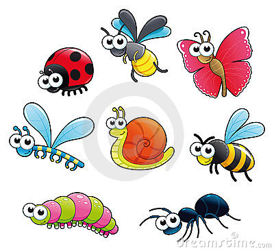 Free Bugs + 1 Snail. Royalty Free Stock Images - 20098689