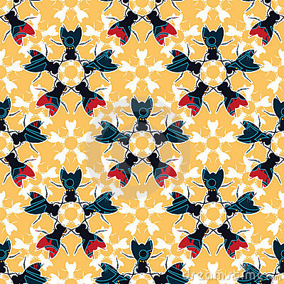 Bugs floral pattern