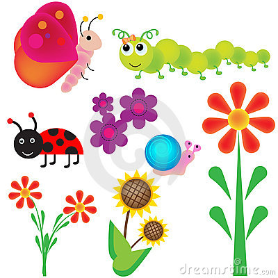 Free Bugs In The Garden Royalty Free Stock Photography - 12839617
