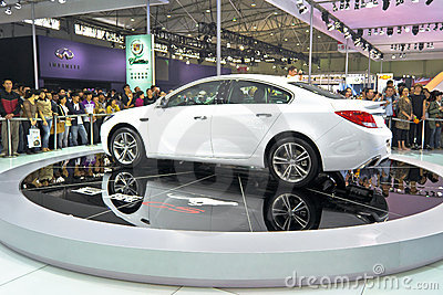 Buick Regal booth Editorial Stock Photo