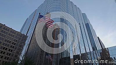 Buidlings moderni della banca di America a Oklahoma City - U.S.A. 2017 dell'ufficio video d archivio