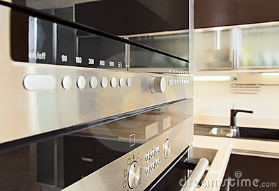 Build in microwave oven in modern kitchen