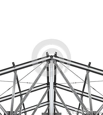Build roof. Fragment metal framework