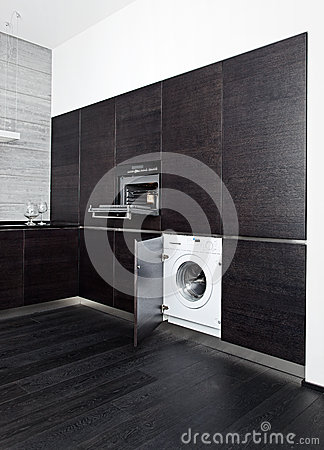 Build-in washing machine and cooker
