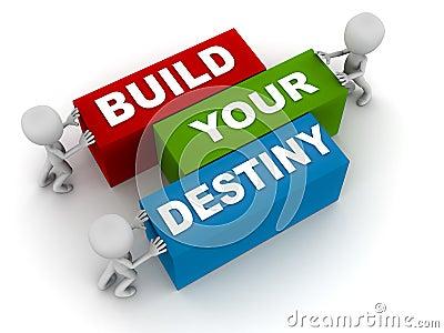 Build your destiny Stock Photo