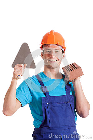 Builder with his tools