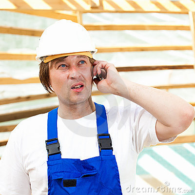 Builder on mobile phone