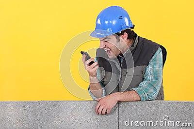 Builder shouting