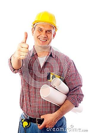 Builder shows gesture OK