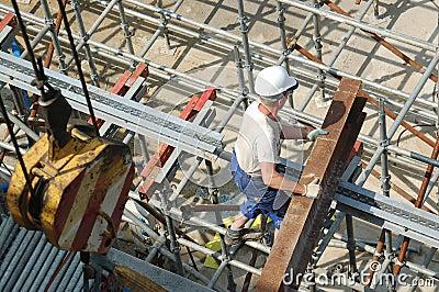 Builder with steel beam