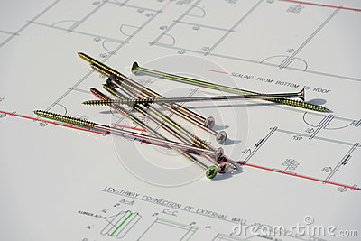 Builders Plan It Out Stock Illustration Image 48959985