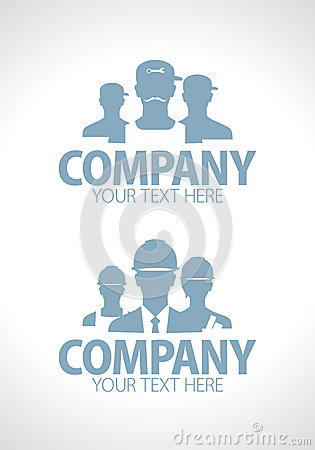 Builders and repairers team silhouette