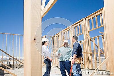Builders taking a break