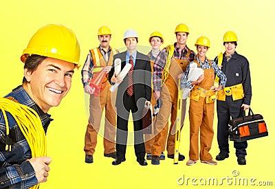 Builders workers