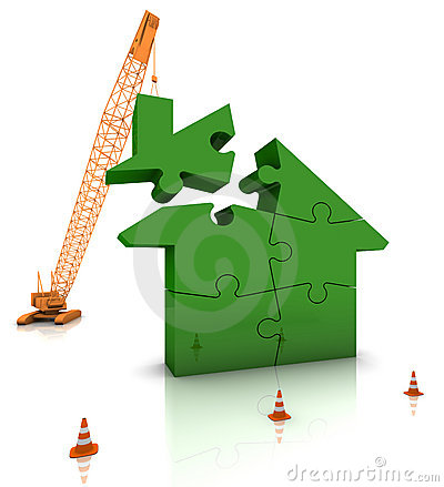 Free Building A Green Home Stock Images - 19596664