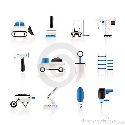 Free Building And Construction Equipment Icons Stock Photo - 13907060