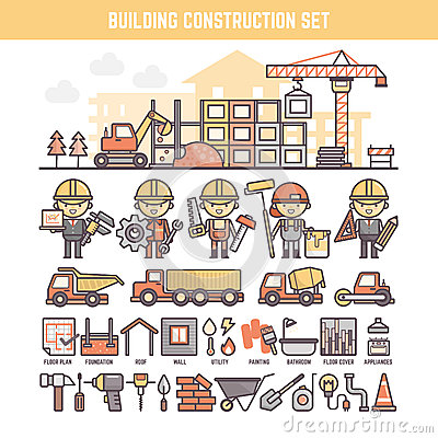 Free Building And Construction Site Elements For Infographics Royalty Free Stock Photos - 53701398
