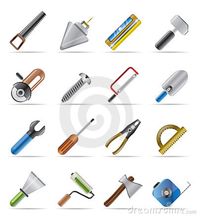 Free Building And Construction Tools Icons Royalty Free Stock Images - 9948009