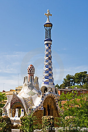 Building in Antonio Gaudi Parc Guell