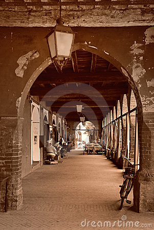 Building archway in Italy
