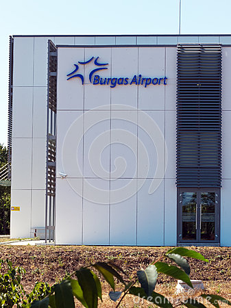 Building bearing the logo of Sarafovo Airport Editorial Photography