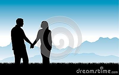 Building Beautiful Relationships Vector