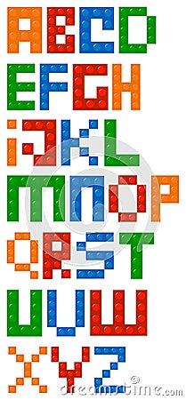 Free Building Blocks Alphabet Font Stock Image - 32538741