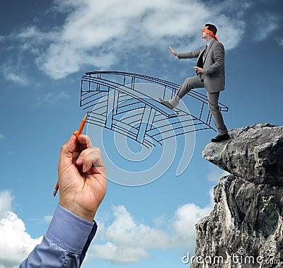 Free Building Bridges - Assistance For Business Stock Image - 36910581