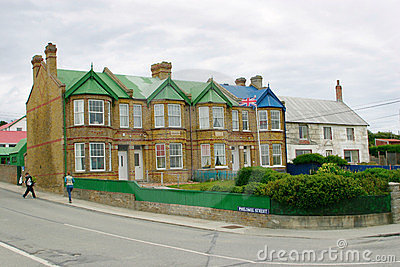 Building of city hall in Port Stanley, Falklands Editorial Photo