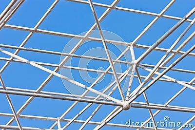 Building construction of metal steel framework