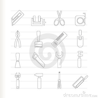 Building and Construction Tools icons - Vector Ico