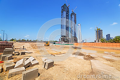 Building constuction in Abu Dhabi