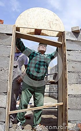 Building a door arch