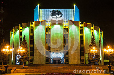 Building of the drama theatre in the city of Chelyabinsk, Russia_2