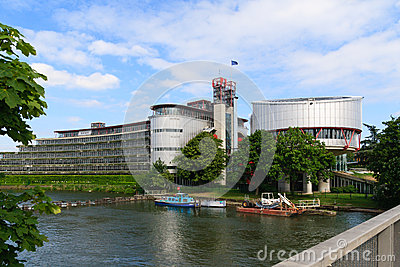 Building of the European Court of Human Rights Editorial Stock Photo
