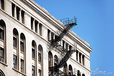 Building and fire stairs